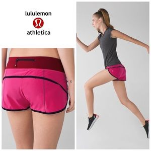 Lululemon speed shorts - jeweled magenta